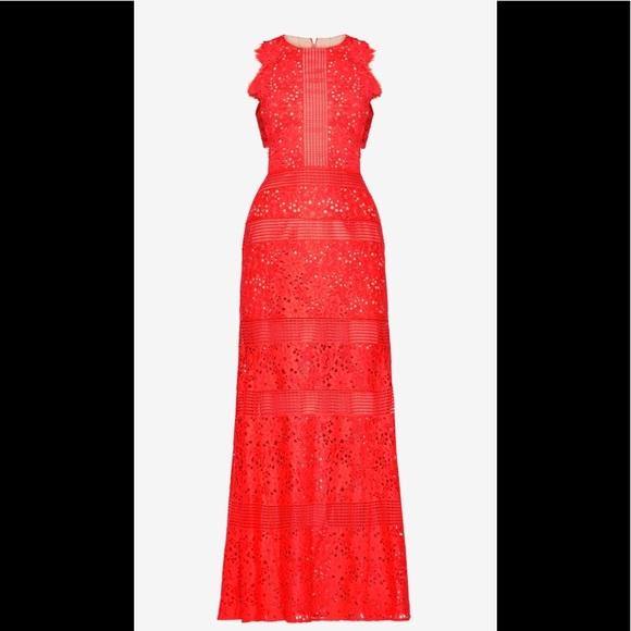 BCBGMaxAzria Dresses   Bcbg Max Azria Merida Floral Lace Gown   Poshmark